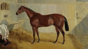 Horse oil painting by John Frederick Herring, Snr. Pic: Bonhams