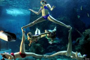 A Russian synchronised swimming team