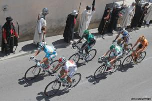 A breakaway group of riders during the fifth stage of the Tour de France