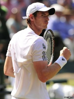 Murray celebrated winning the second set 7-5, which he clinched in just under one hour and 10 minutes.