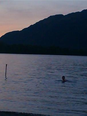 Swimmer in Loch Lomond