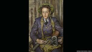 Corporal J. M. Robins, 1941, by Dame Laura Knight