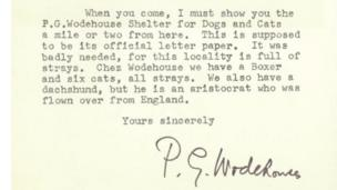 Letter from PG Wodehouse to Alex Graham