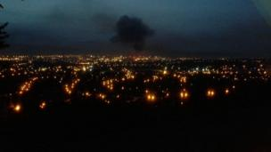 Smoke can often be seen across the city as bonfires are lit on the eleventh night