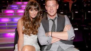 Cory Monteith with co-star and girlfriend, Lea Michele