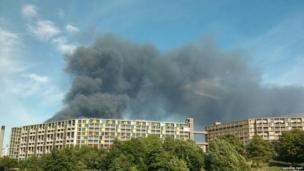 Fire in Foley Street, Attercliffe, Sheffield