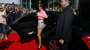 Judge Nicole Scherzinger arrives at Wembley Arena for the London auditions of the ITV1 talent show, The X Factor.