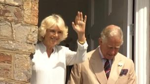 The Royal couple in Bude