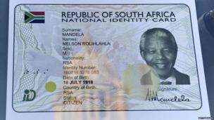 Nelson Mandela's digital ID card