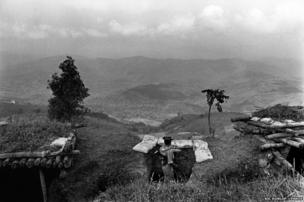 A Burmese Army outpost on the frontline between the Shan State Army and the Burmese Army in Shan State