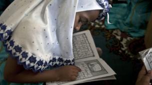 Kenya girl studying at an Islamic school in Nairobi - Sunday 14 July 2013
