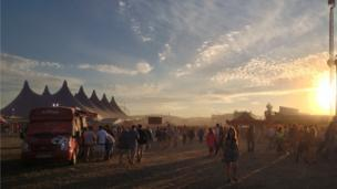 Sunset over T in the Park