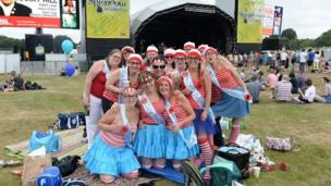 A hen do dressed as Where's Wally?