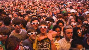 Kraftwerk's audience at the Latitude Fesitval