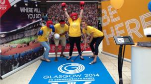 People dressed up for the Commonwealth Games 2014 ticket launch