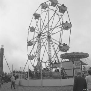 Fairground at the 1968 Great Dorset Steam Fair