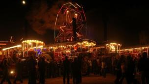 Fairground at Great Dorset Steam Fair