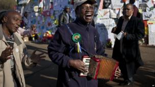 An accordion player in Pretoria, South Africa - Friday 19 July 2013