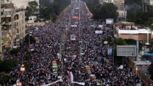 Mass protest in Cairo (26 July 2013)