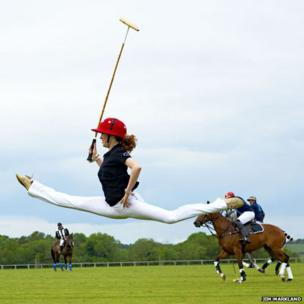 Ksenia Ovsyanick at Cirencester Park Polo Club