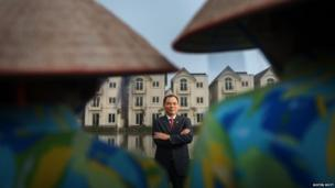 Vietnam's first billionaire: Mr. Pham Nhat Vuong, Chairman of Vingroup, poses for a portrait at a Vingroup development project in Hanoi, Vietnam.