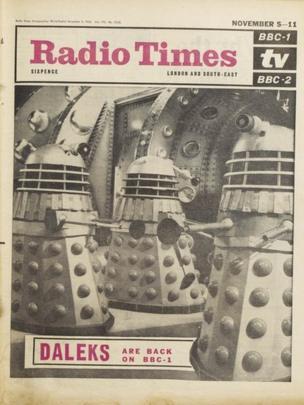 Daleks are back, 3 November 1966