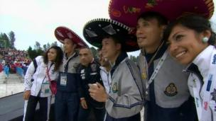 International team at World Police and Fire Games opening ceremony