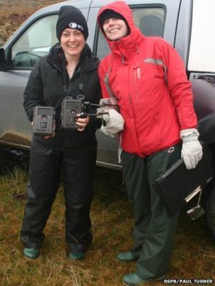 Volunteers Kate Basley and Louise Senior