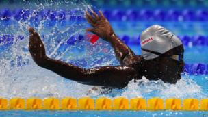 Ghana's butterfly swimmer Ophelia Swayne - Friday 2 August 2013