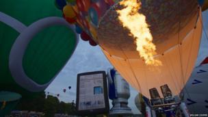 Hot air balloons. Photo: William Cooper