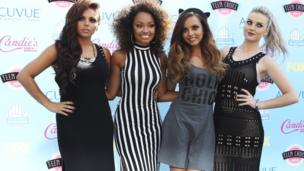 Little Mix posing for pictures