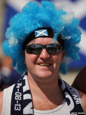 Scotland fan in Trafalgar Square