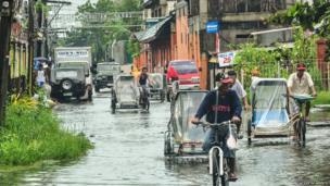 Flooding in La Paz, Iloilo City, Philippines. Photo: Al Destacamento
