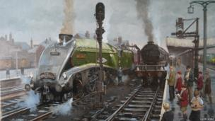 Spotters painting by David Noble