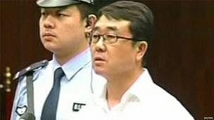 Wang Lijun in court during the verdict in Chengdu, 24 Sept 2012