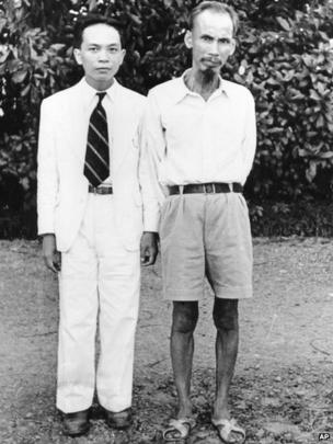 Vo Nguyen Giap and Ho Chi Minh
