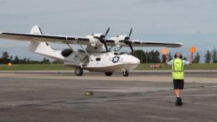Catalina seaplane in Newquay