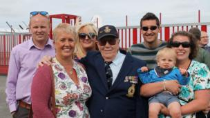 Squadron Leader WH Taylor (Retired) and family