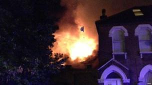 Walthamstow fire. Photo: Saeed