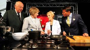Lord Coe, Mary Berry with the Duke and Duchess of Devonshire