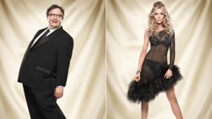 Mark Benton and Abbey Clancy