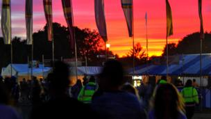 Sunset at Jersey Live