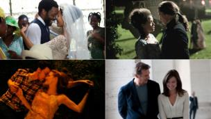 Clockwise from top left: Half of a Yellow Sun, Belle, Third Person, The Disappearance of Eleanor Rigby