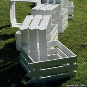 An interlocking sculpture