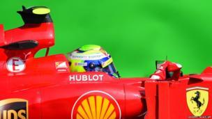 Ferrari's Brazilian driver Felipe Massa
