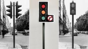 Traffic lights and pedestrian crossing lights
