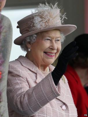 The Queen at the Braemar Gathering