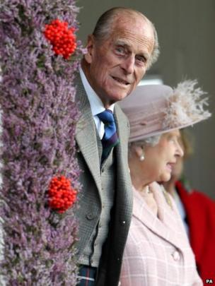 Prince Philip at the Braemar Gathering
