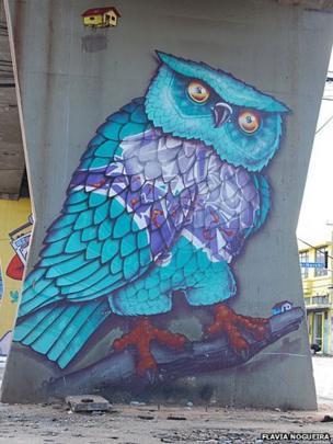 Graffiti by Binho Ribeiro in Santana, Sao Paulo