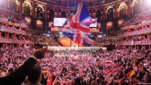 General view of the Royal Albert Hall in London during the Last Night of The Proms